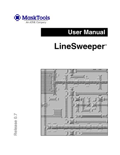 ASM Lithography (ASML) LineSweeper User's Manual