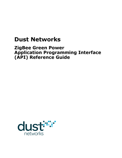 Dust Networks Doxygen Template for ZigBee Green Power API Reference Guide