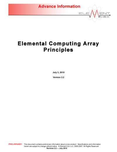ElementCXI Elemental Computing Array Principles