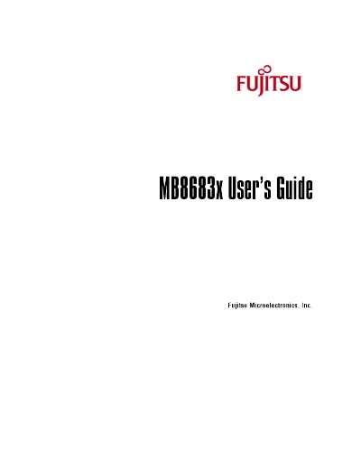 Fujitsu SPARClite MB8683x Embedded Processor User's Guide