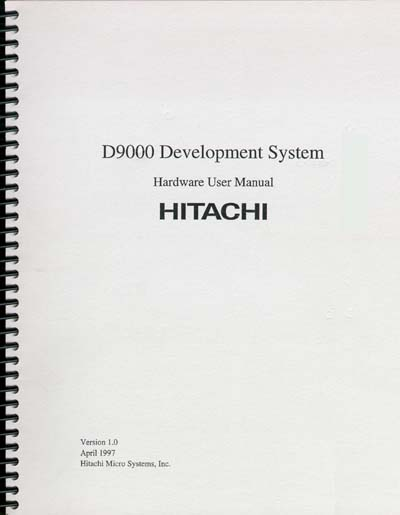 Hitachi D9000 Development System Hardware User Manual