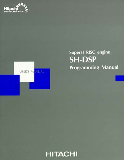 Hitachi SH-DSP Programming Manual