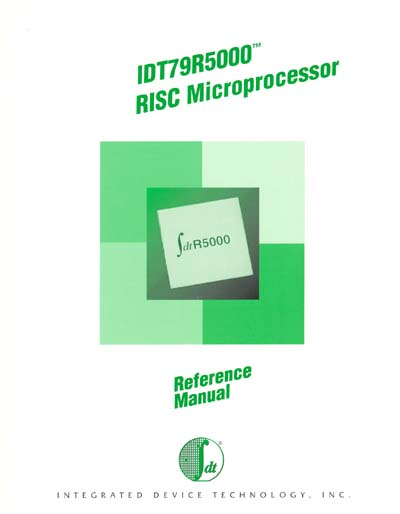 IDT79R5000 RISC Microprocessor Reference Manual