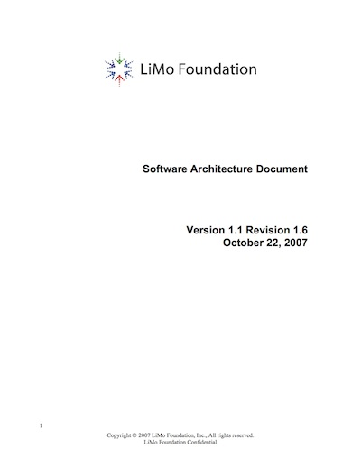 Linux Mobile (LiMo) Software Architecture Document