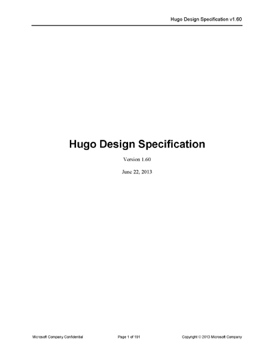 Microsoft Design Specification