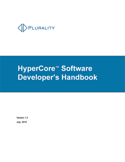Plurality HyperCore Software Developer's Handbook