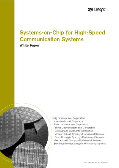 Synopsys Systems-on-Chip for High-Speed Communication Systems White Paper