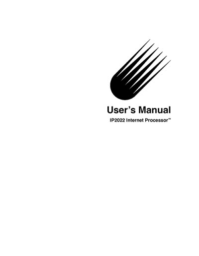 Ubicom IP2022 Internet Processor User's Manual