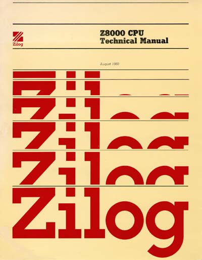 Zilog Z8000 Microprocessor Reference Manual