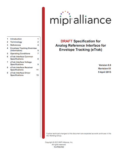 MIPI Alliance Specification for Analog Reference Interface for eTrak